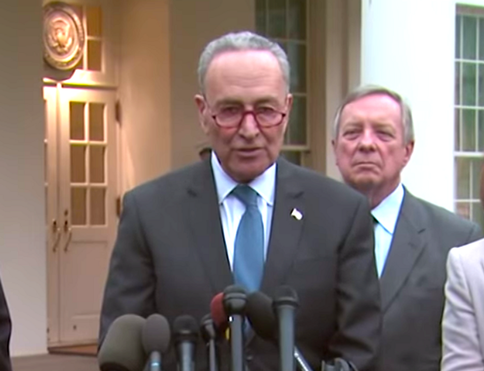 Chuck Schumer says Trump threatened to keep the government shut down for 'years'