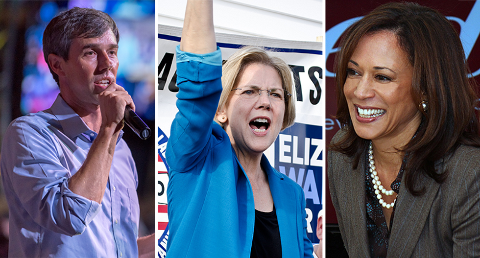 What is Google doing with its search results for Democratic 2020 presidential candidates?