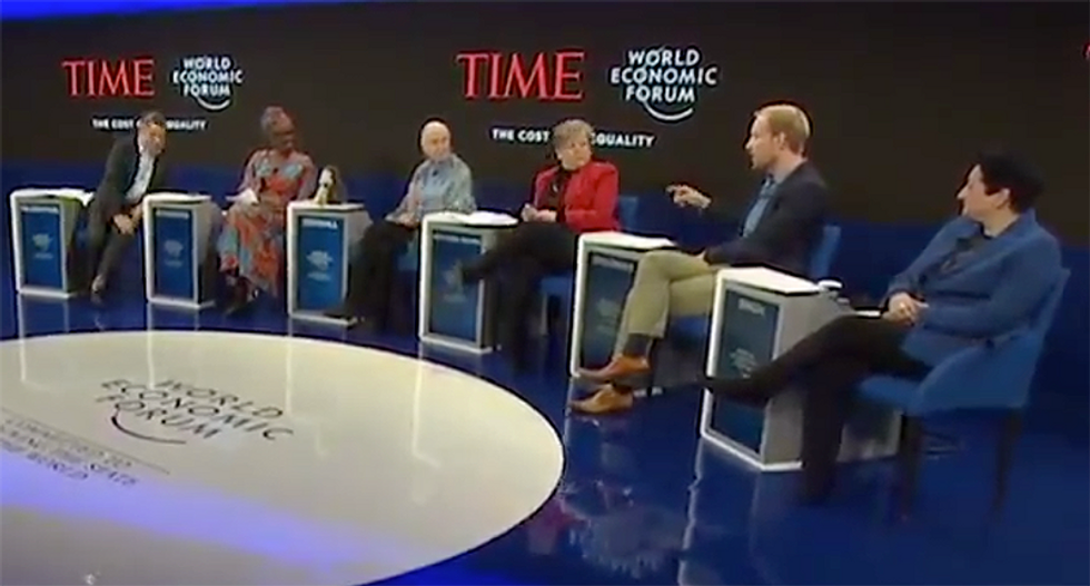 Watch this historian call out Davos elite to their faces: 'Stop talking about philanthropy' and pay higher taxes