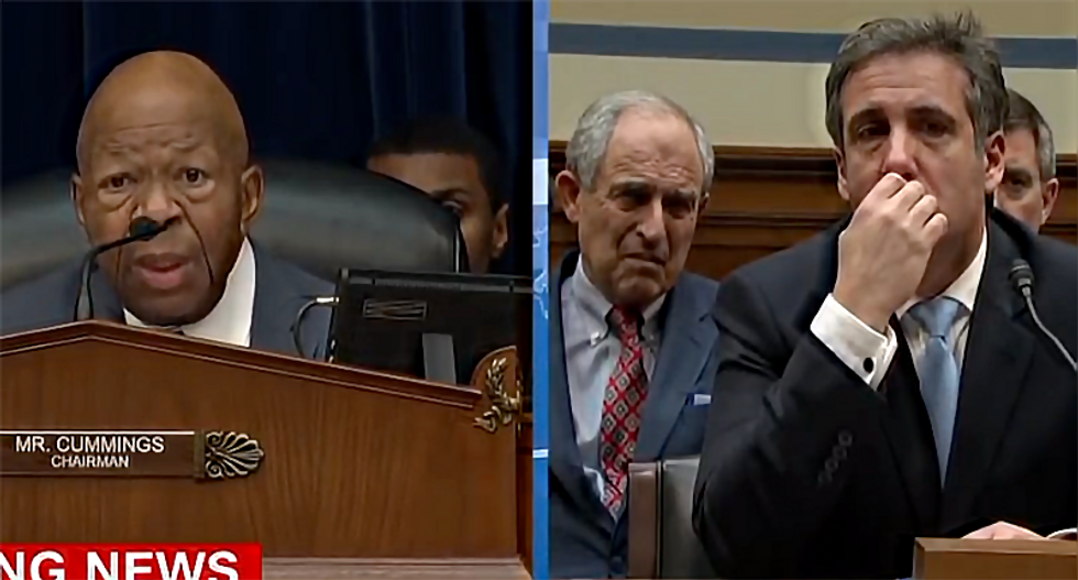 Rep. Elijah Cummings delivers stunning closing statement — and moves Michael Cohen to tears: 'We are so much better than this'