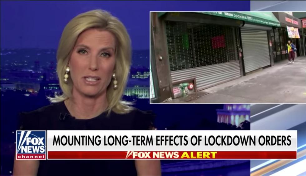 Laura Ingraham's Fox News show criticized after night of coronavirus coverage