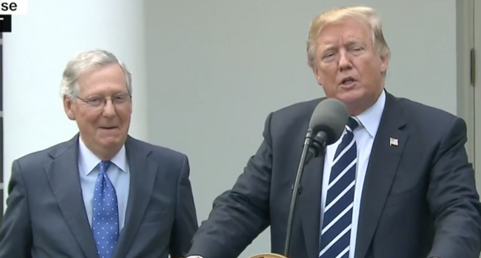 Trump and McConnell playact at doing something about background checks