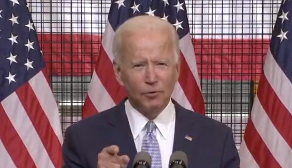 Joe Biden flips the script on Trump