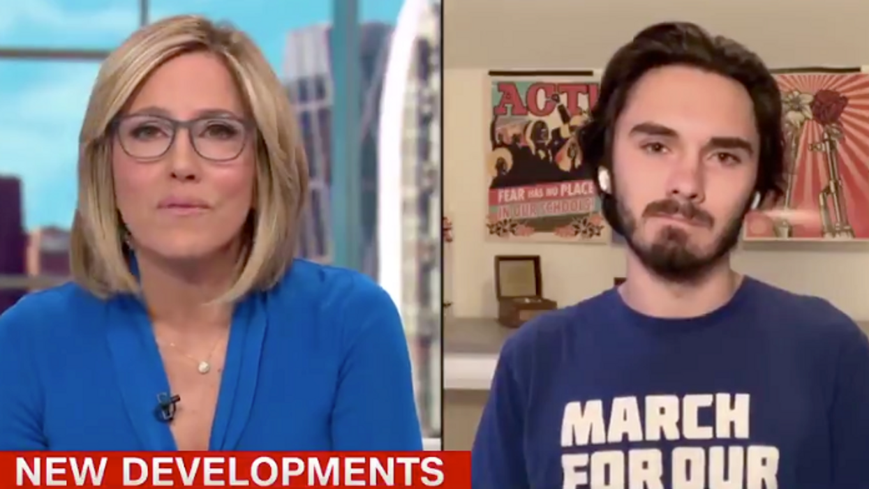 David Hogg says he 'absolutely' felt Marjorie Taylor Greene was threatening him when she said 'I carry a gun'