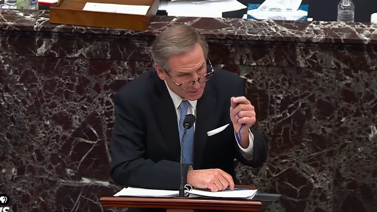 Watch: Trump defense attorney mocked after appearing to 'pocket' coasters from impeachment trial