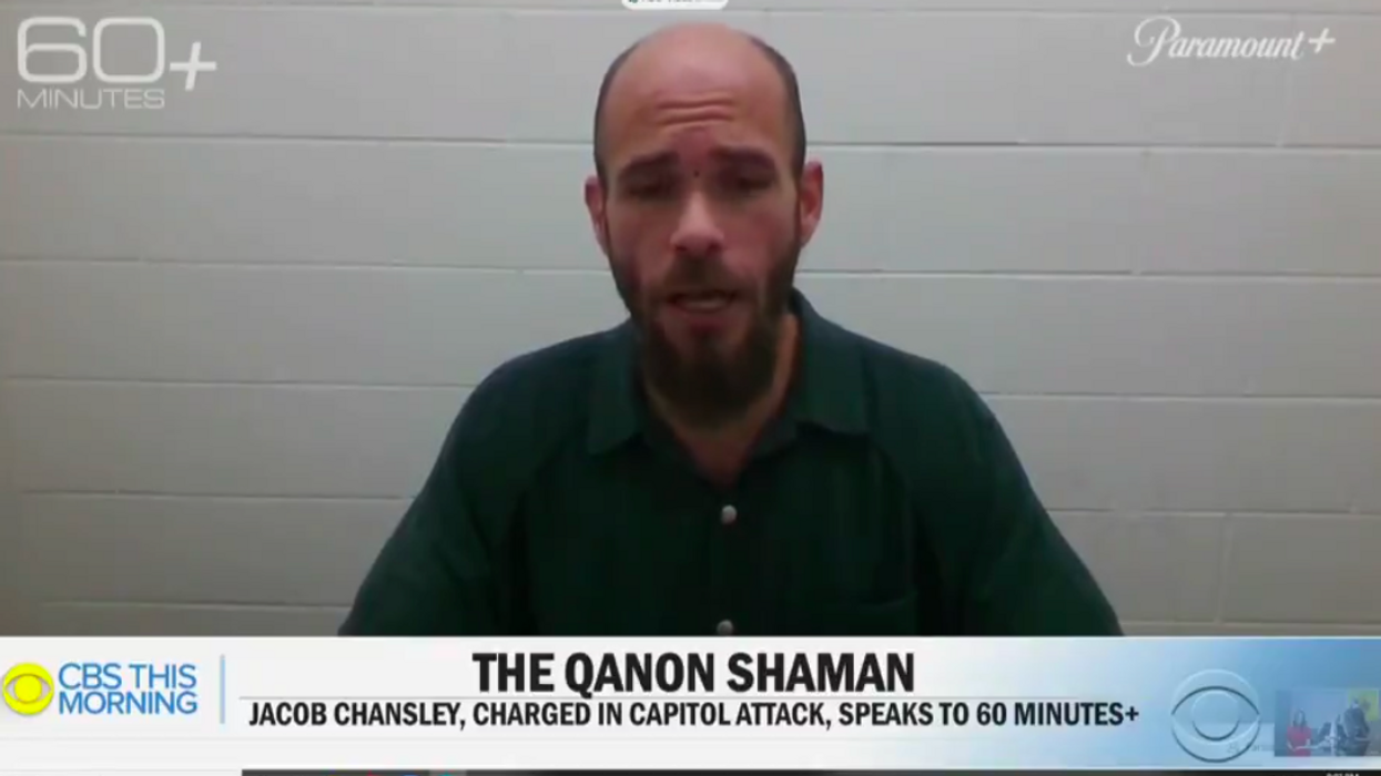 'Don't normalize insurrection': CBS News slammed for 'complicit' jailhouse interview of 'QAnon shaman'