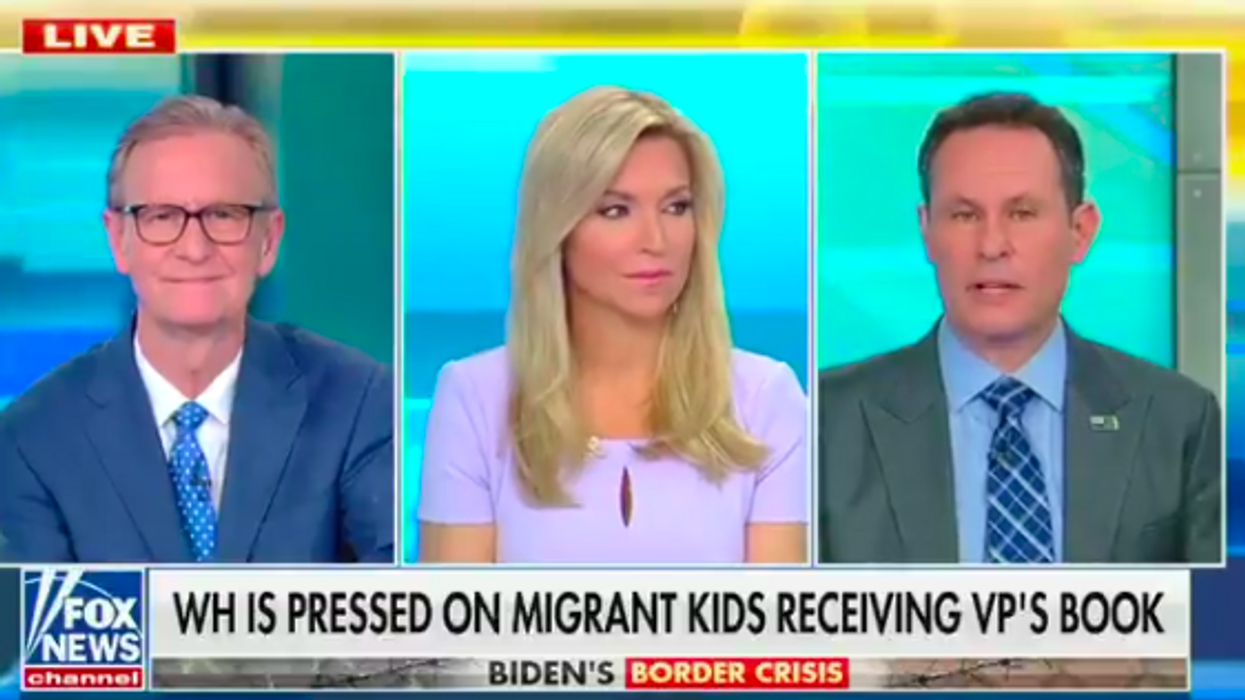 Fox Host pushes false claim VP's book being given to migrant children despite fact check moments before