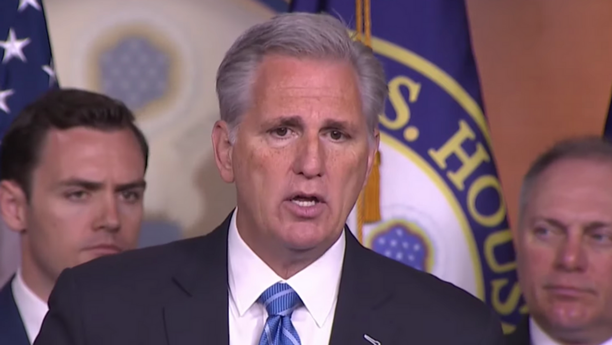 Kevin McCarthy is selling shirts that say 'moron' so everyone knows who his supporters are