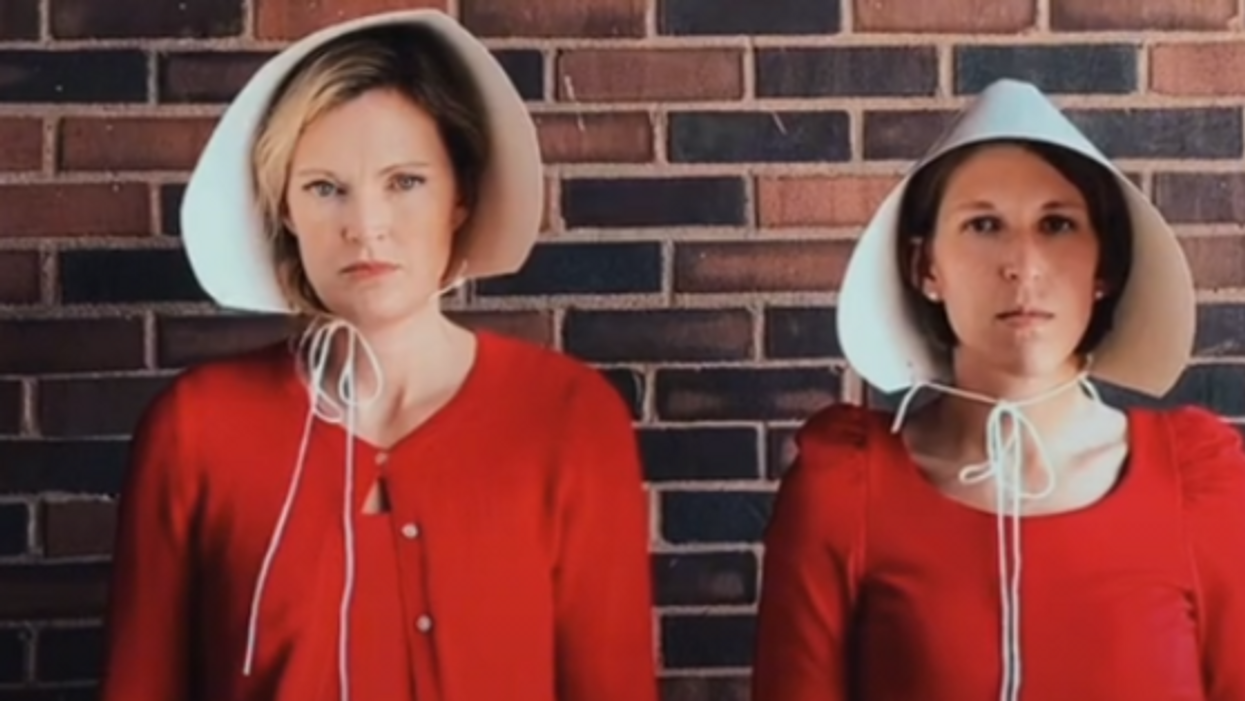 'Unjust, patriarchal laws': Alabama pastors protest Texas abortion law with 'Handmaid's Tale' costumes