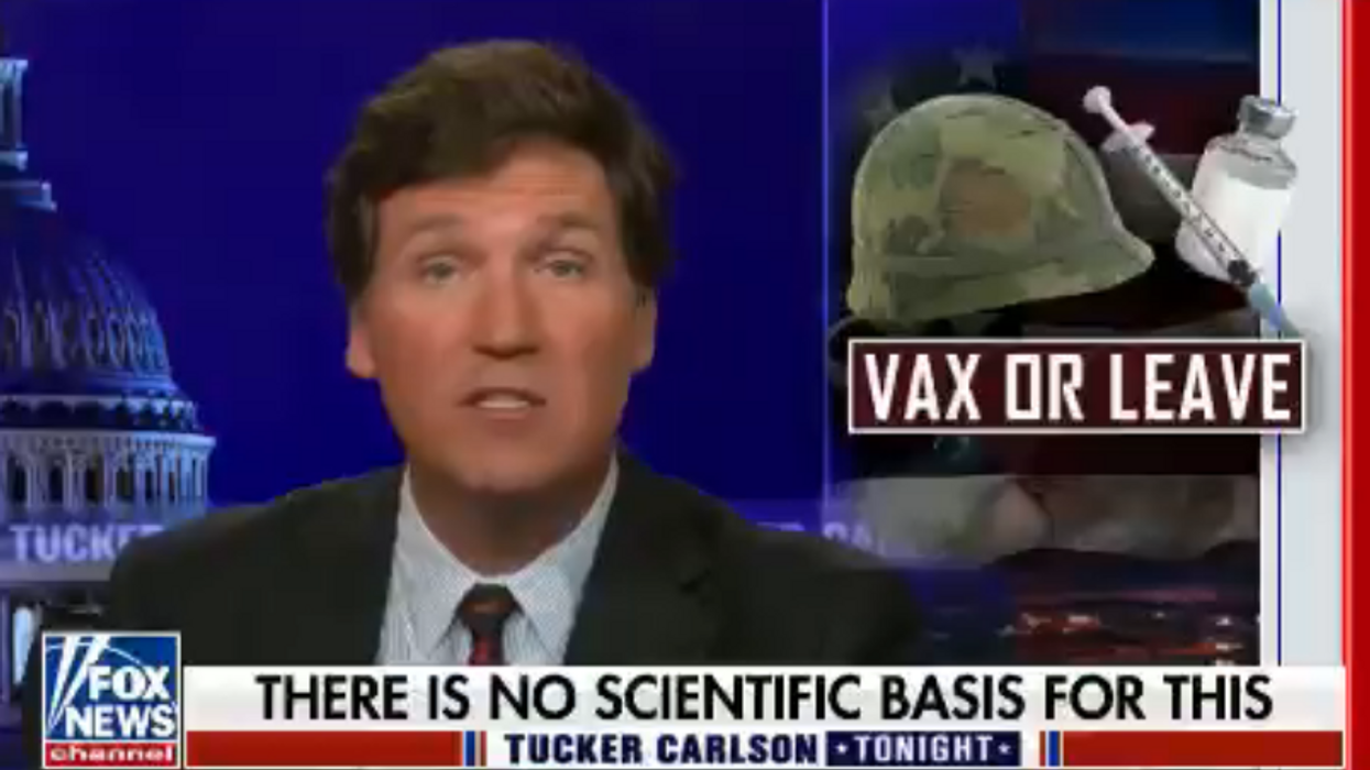 Tucker Carlson has a mind-boggling new conspiracy theory about the COVID-19 vaccine