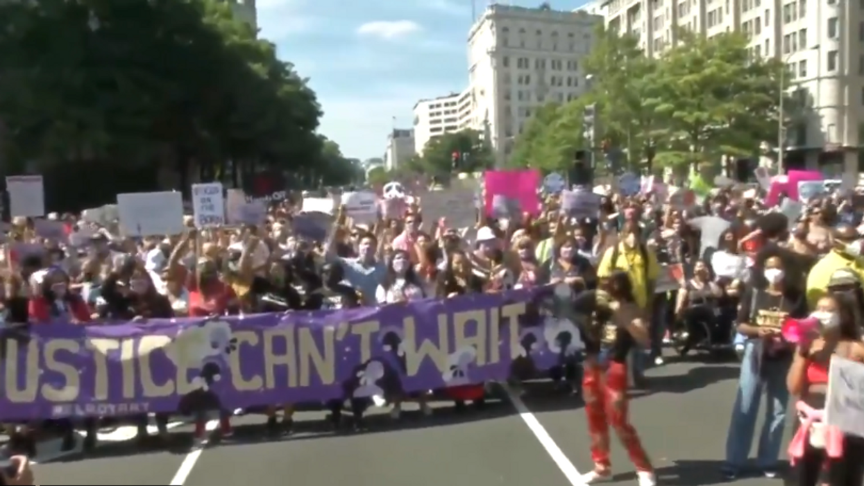 Women rally for abortion justice amid 'unprecedented attack' on reproductive rights