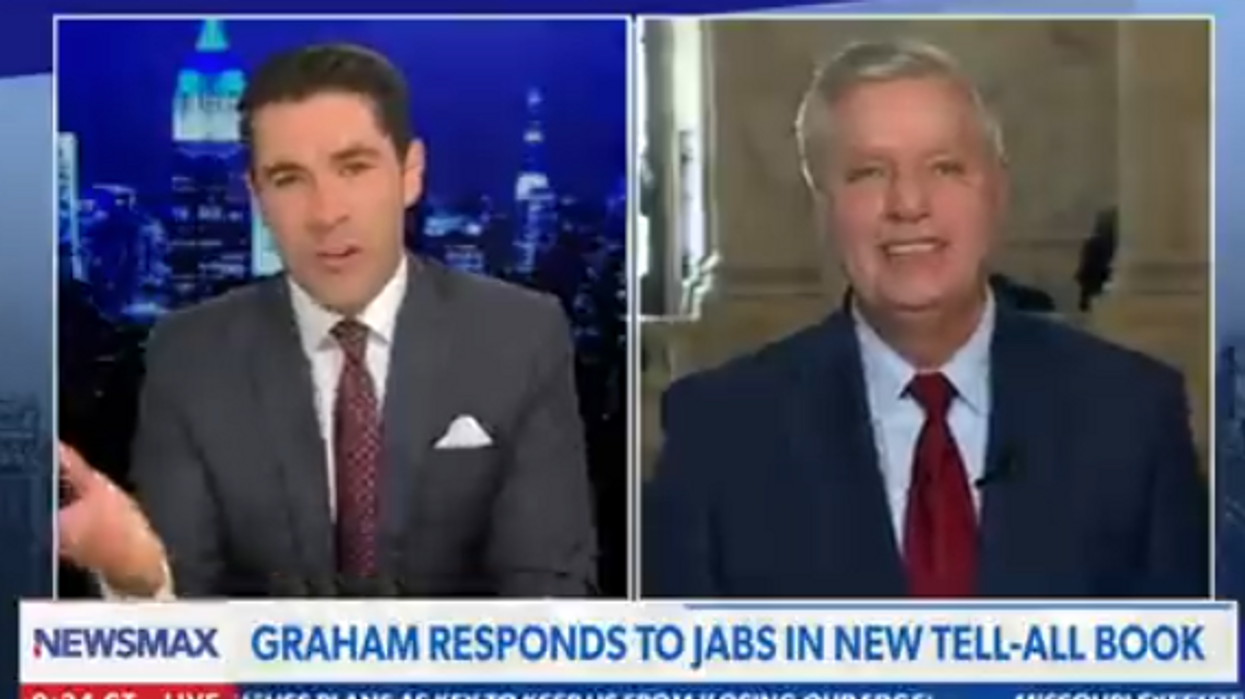 'I need my next meal': Flustered Lindsey Graham delivers bizarre response to claims of freeloading off Trump