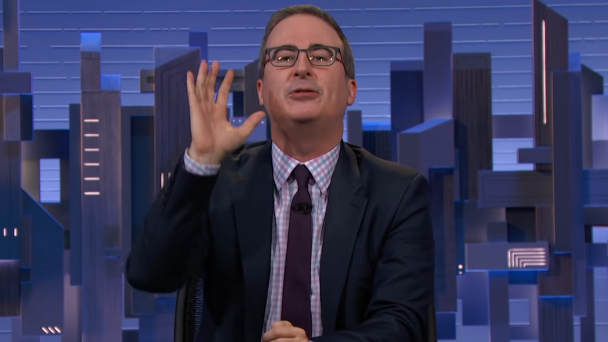 John Oliver slams 'business daddy' AT&T for role in creating 'toxic far-right' OAN: 'You're a terrible company'