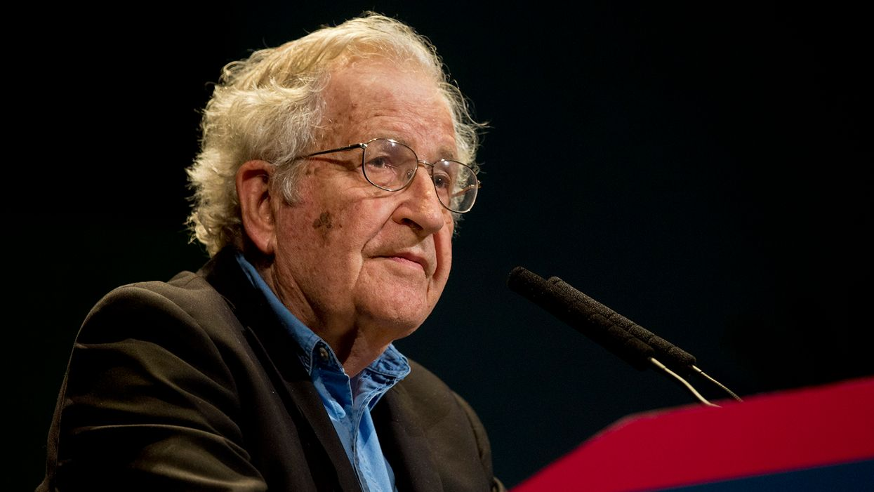 Noam Chomsky: 'If you don't push the lever for the Democrats, you are assisting Trump'