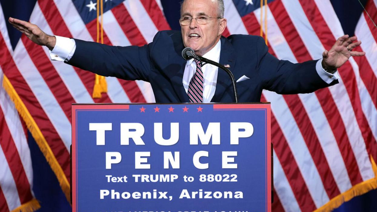 Rudy Giuliani's quixotic frenzy has observers wondering if he may need Trump's protection