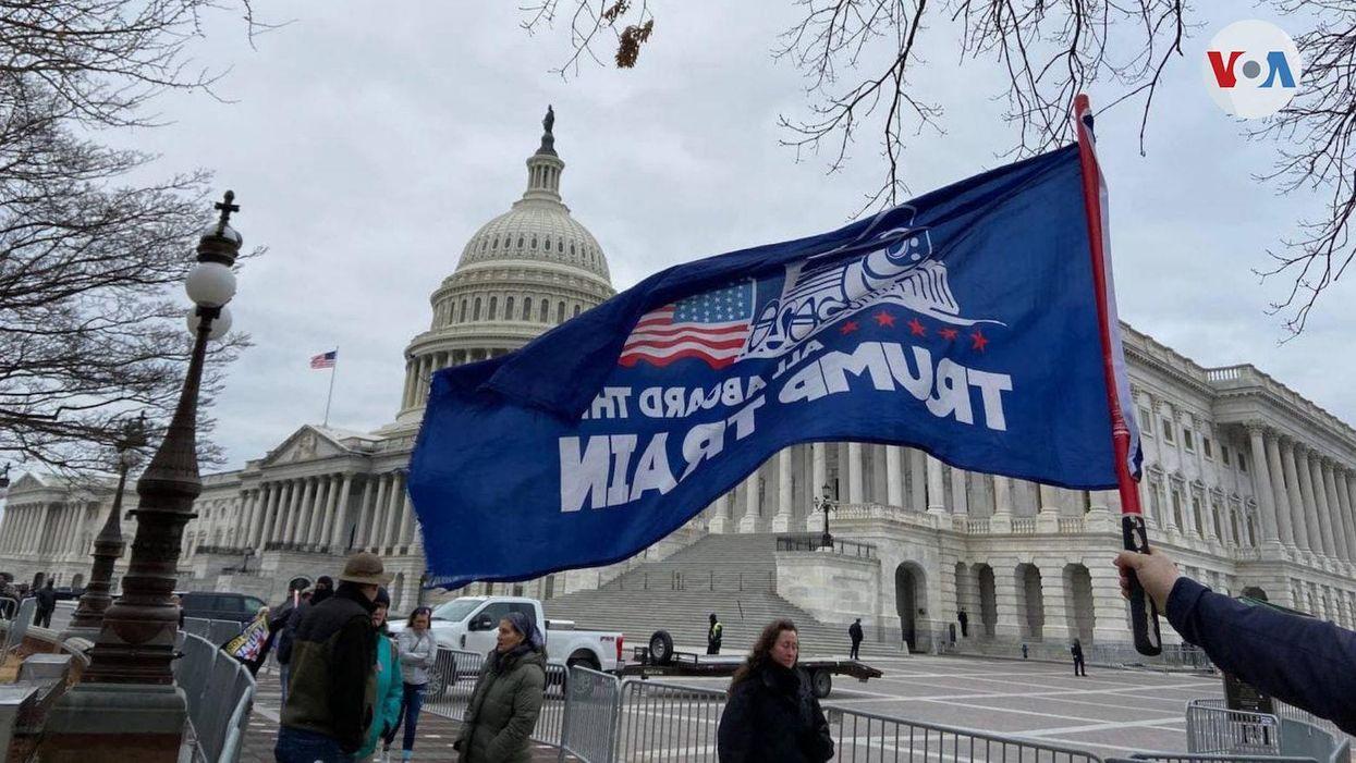 U.S. Capitol Jan 6. trump flag